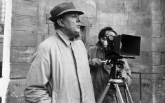 An undated picture of  French director Jacques Tati.