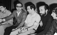 从左到右 Claude Lelouch, Jean-Luc Godard, Francois Truffaut, Louis Malle and Roman Polanski