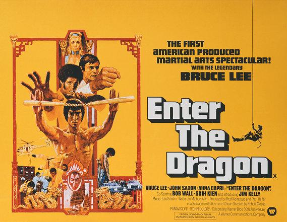 茅瑛在1973年的经典武打片《龙争虎斗》中。 Movie Poster Image Art/Getty Images
