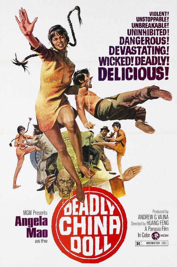 茅瑛主演过包括《惊天龙虎豹》(1973)在内的数十部武打片。 Metro-Goldwyn-Mayer, via Photofest