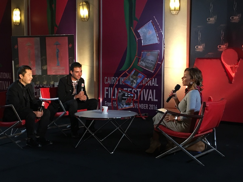 电影节期间贾樟柯接受当地媒体采访