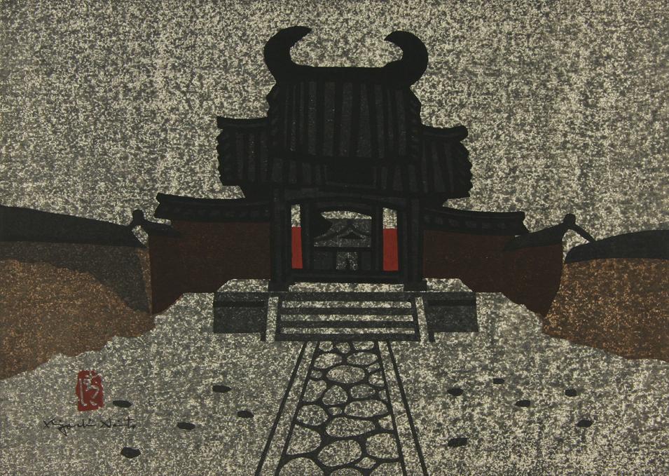 齐藤清版画之二,对照Kubo梦境中以及他父亲的住所。|图片来自网络