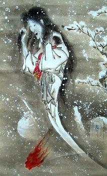 《子育幽灵图》(子育て幽霊図,八幡浜市・個人蔵)|来自网络