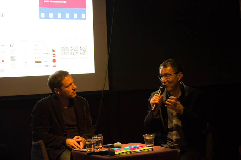佛罗瑞·加仑伯格和易丹教授对话,摄影师:胥明亮|©️白夜谭