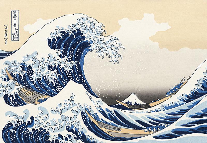 《神奈川冲浪图》(神奈川沖浪裏)|图片来自网络