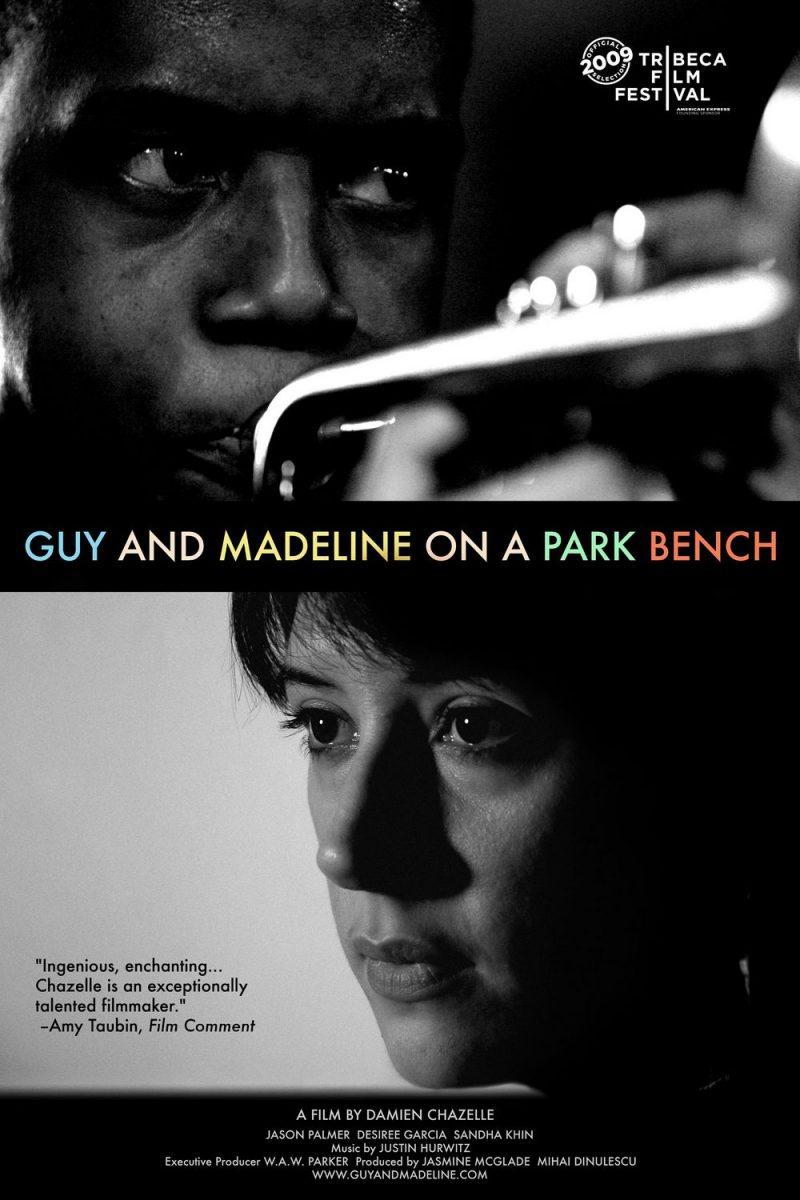 《公园长椅上的盖伊与玛德琳》海报