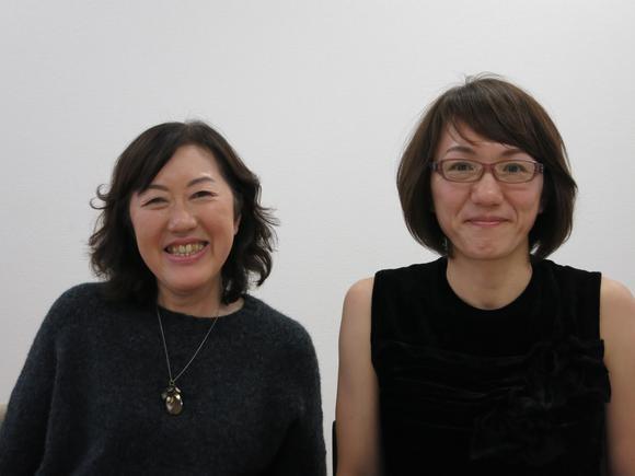 《人生密密缝》的制片木幡久美(左)和导演荻上直子(右)| 摄影:Fran Kuzui