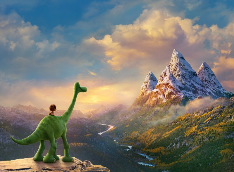 《恐龙当家》(2015)中逼真的风景 | 来自网络